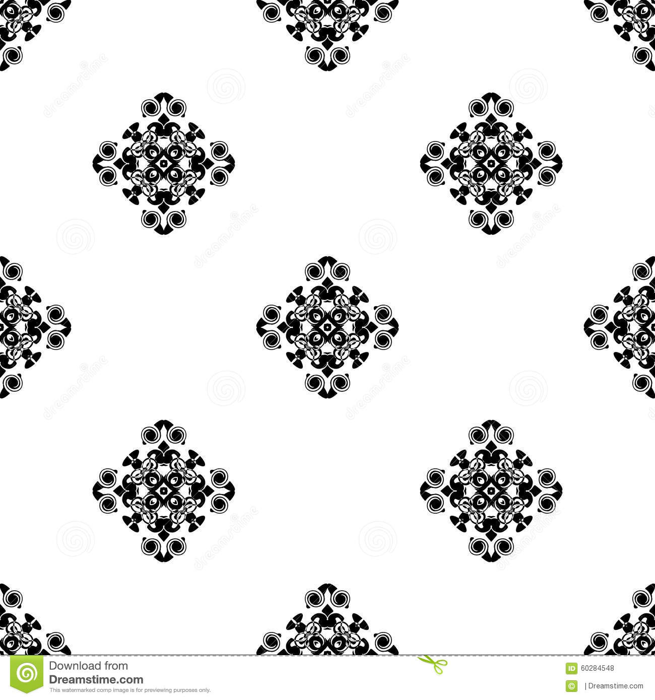 vector seamless pattern  repeating geometric  black and