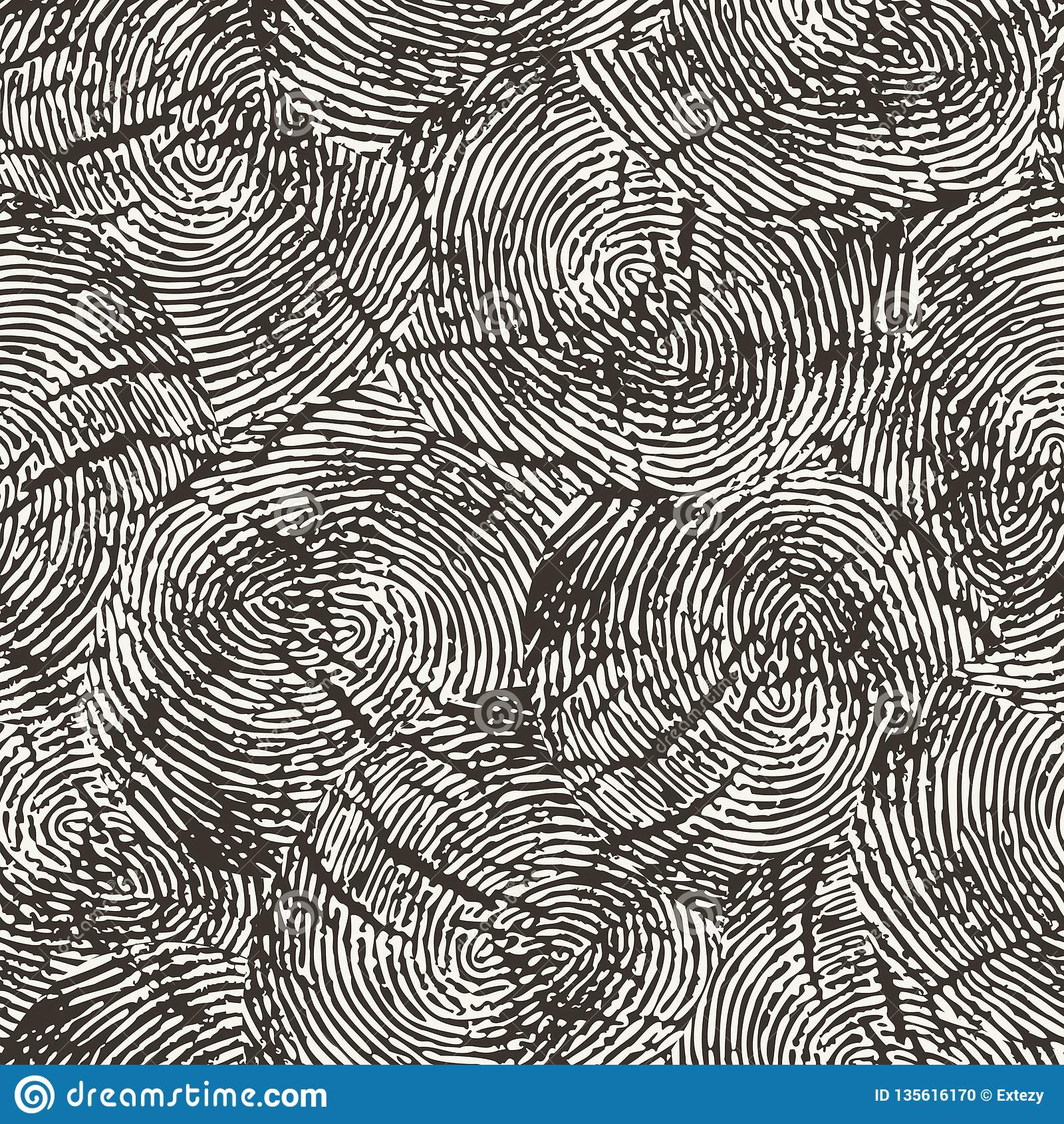 Vector Seamless Pattern Repeating Monochrome Organic Shapes Background Stock Vector Illustration Of Macro Conte 135616170