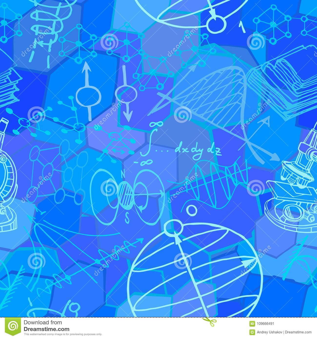 Science Physics From: Vector Seamless Pattern With Sketch Elements Related To