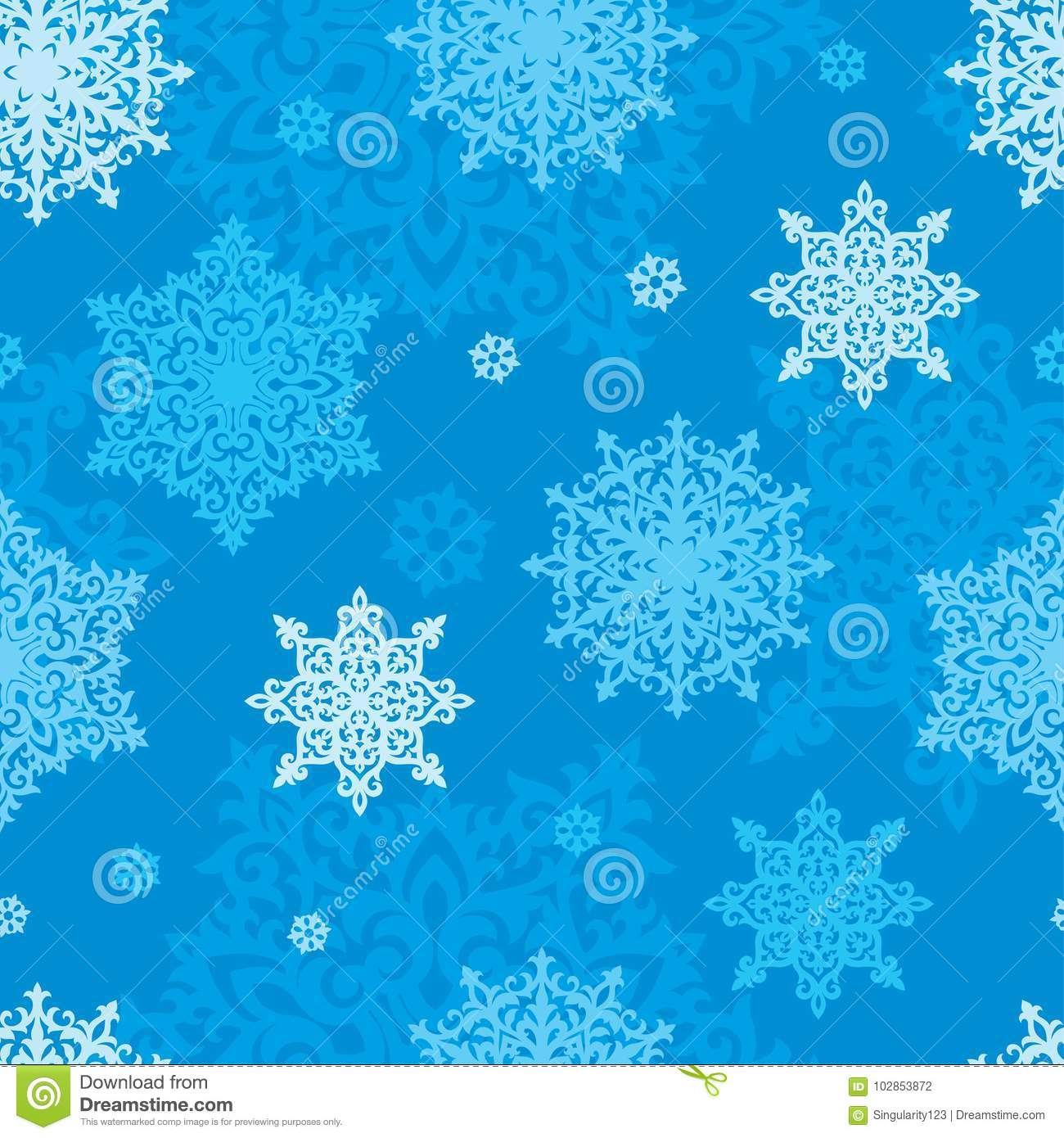 vector seamless pattern of snowflakes new year or christmas background for greeting card gift box wrapping decoration