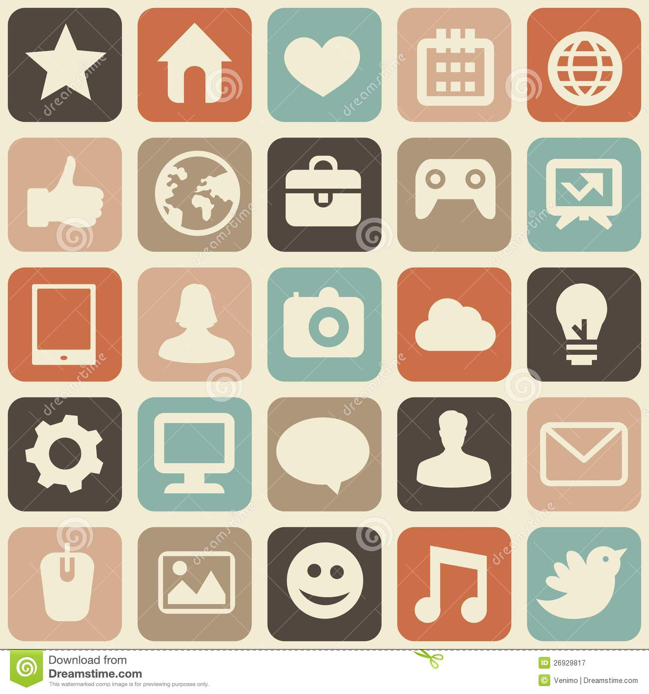 Vector Seamless Pattern With Social Media Icons Royalty Free Stock ...
