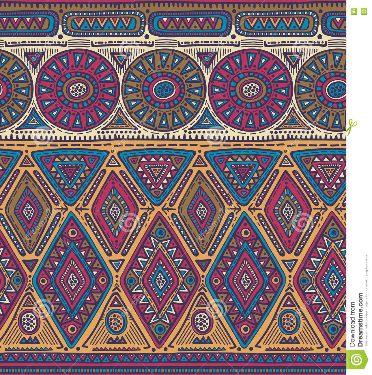 vector seamless pattern for tribal design ethnic motif. Black Bedroom Furniture Sets. Home Design Ideas