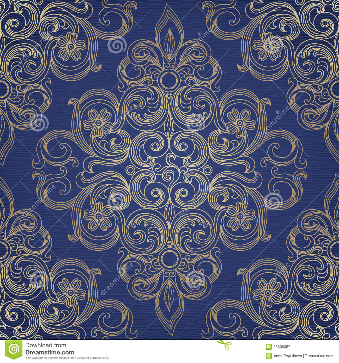Vector seamless pattern in victorian style vector for Victorian style design