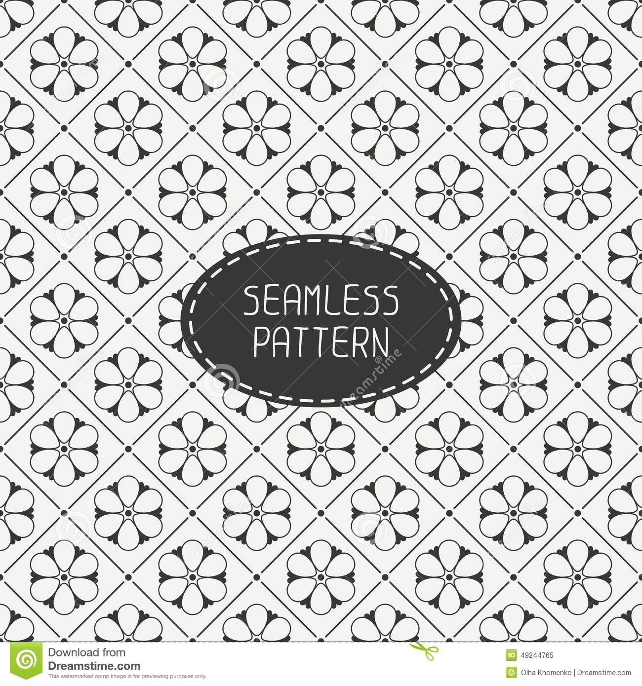 vector seamless retro vintage hipster line pattern stock
