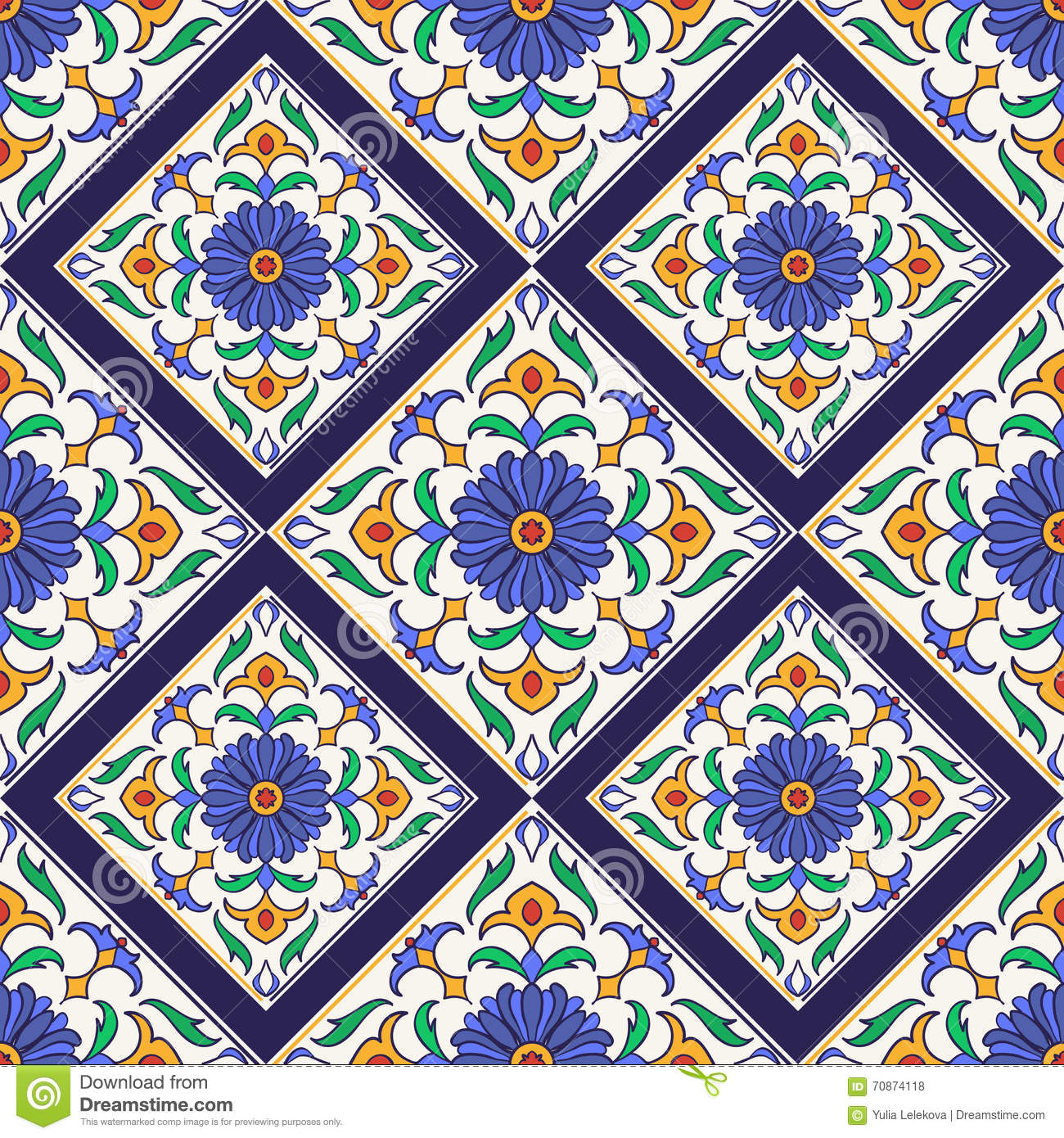 Vector seamless texture beautiful colored pattern for for Tile fashion