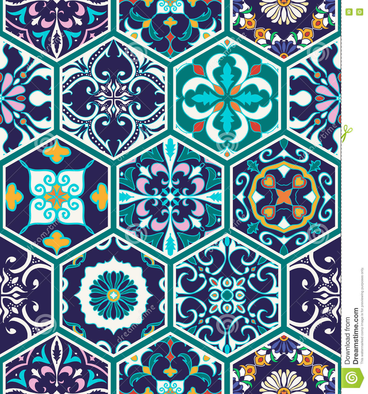 Vector Seamless Texture Beautiful Mega Patchwork Pattern