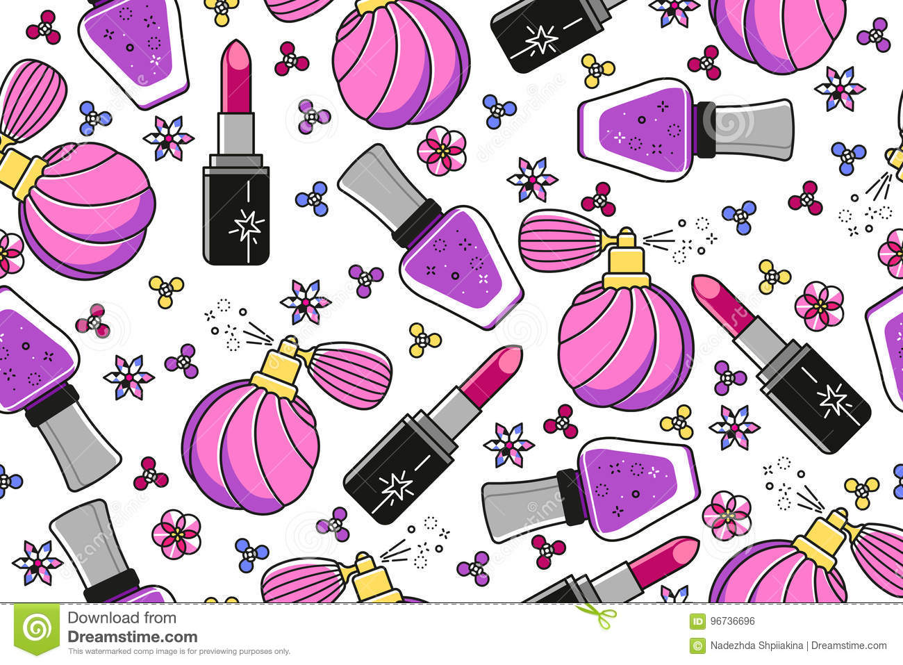 Fashion pattern can be used for wallpaper, pattern fills, web page background, surface textures, wrapping paper design