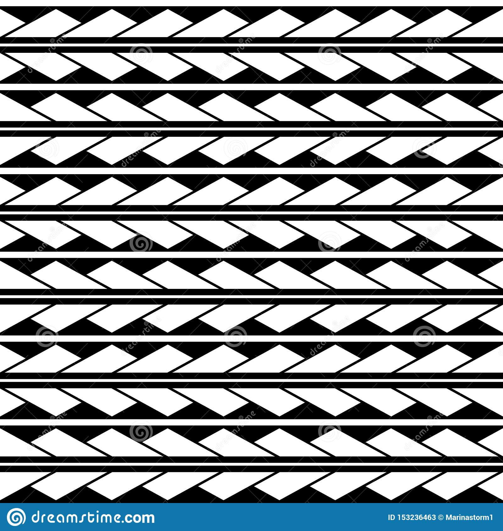 Vector seamless triangles rhombus pattern ornament maori, ethnic, japan style. Modern style texture.
