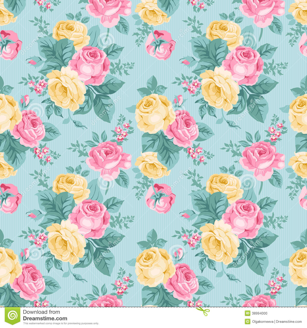 Vector Seamless Vintage Floral Pattern Stock Vector