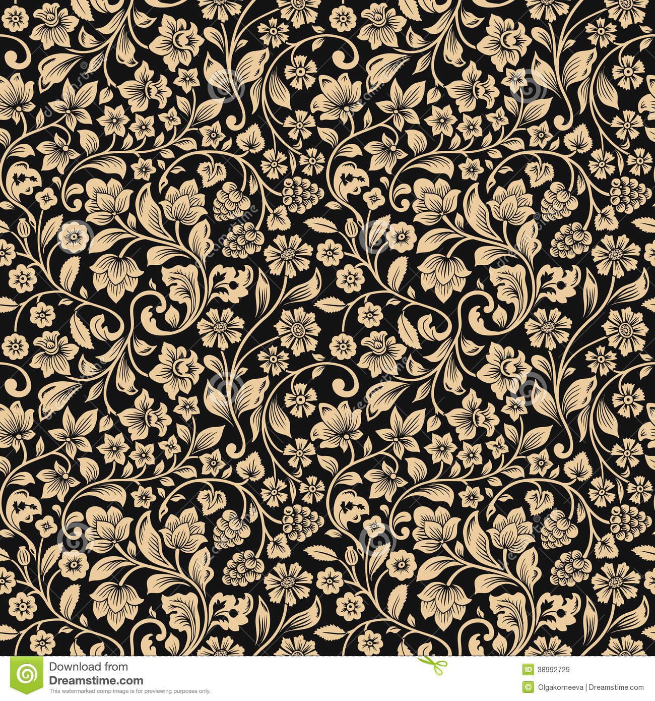 vector seamless vintage floral pattern stock vector Blank Flag Business Card Layout Business Card Design Templates
