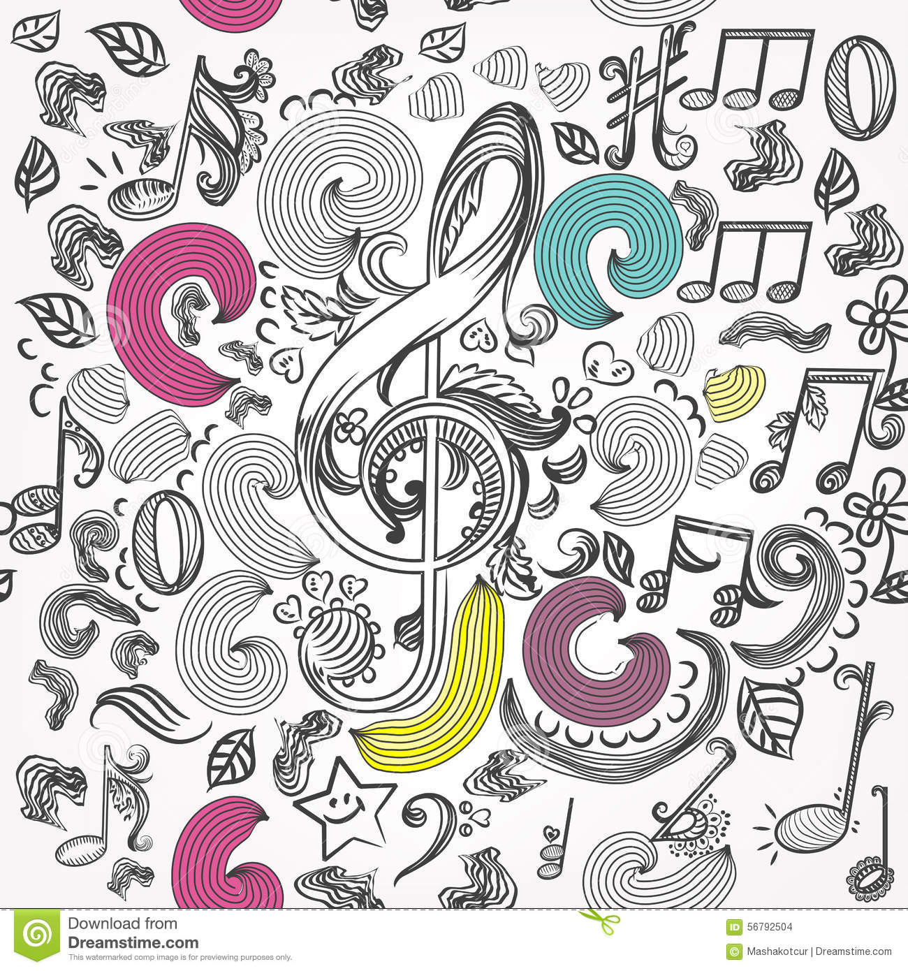 vector-seamless-wallpaper-pattern-doodle-music-elements-sketched-notes-treble-clef-56792504.jpg