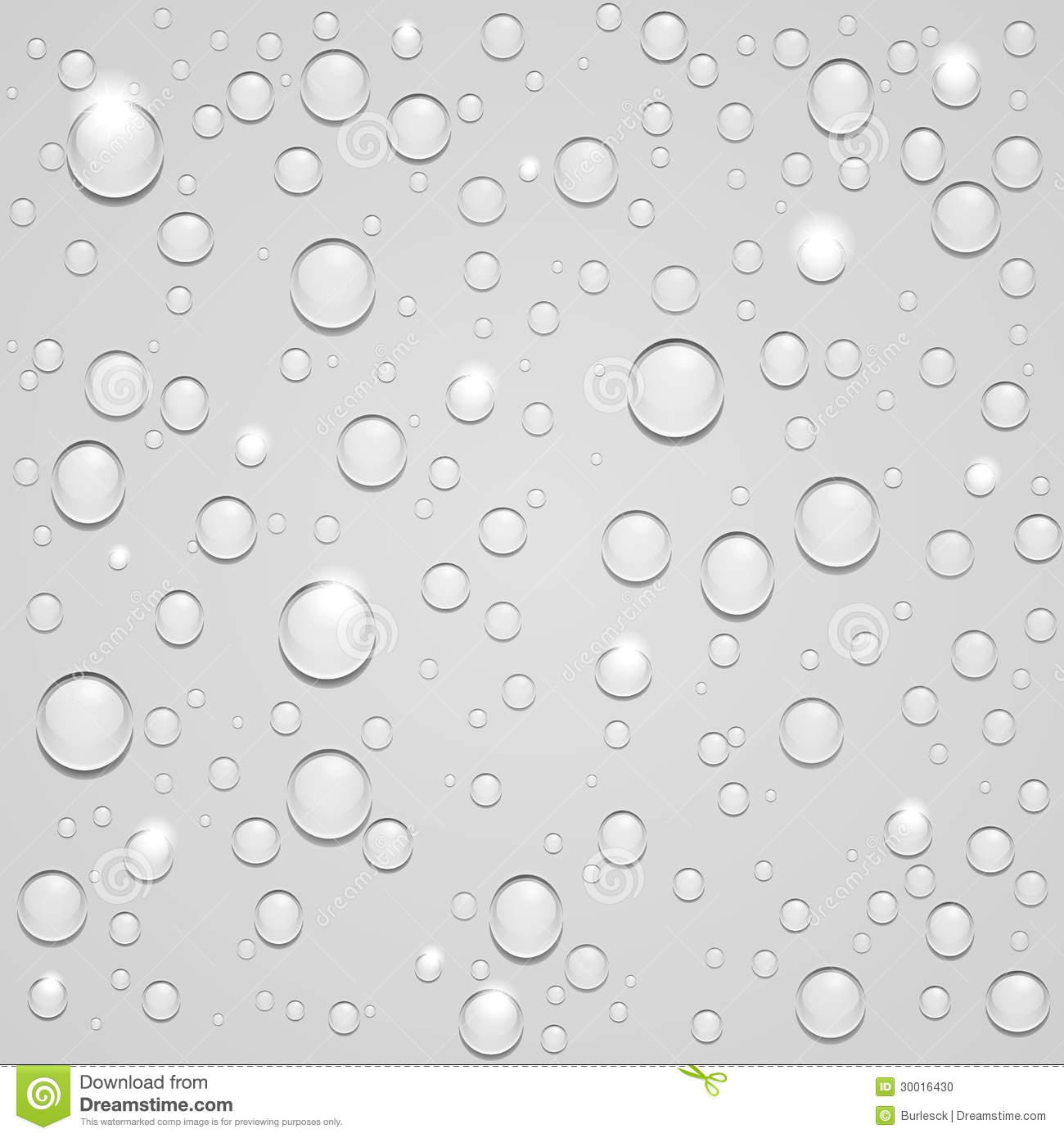 Water Drops On White Background Stock Photo - Image: 30016430