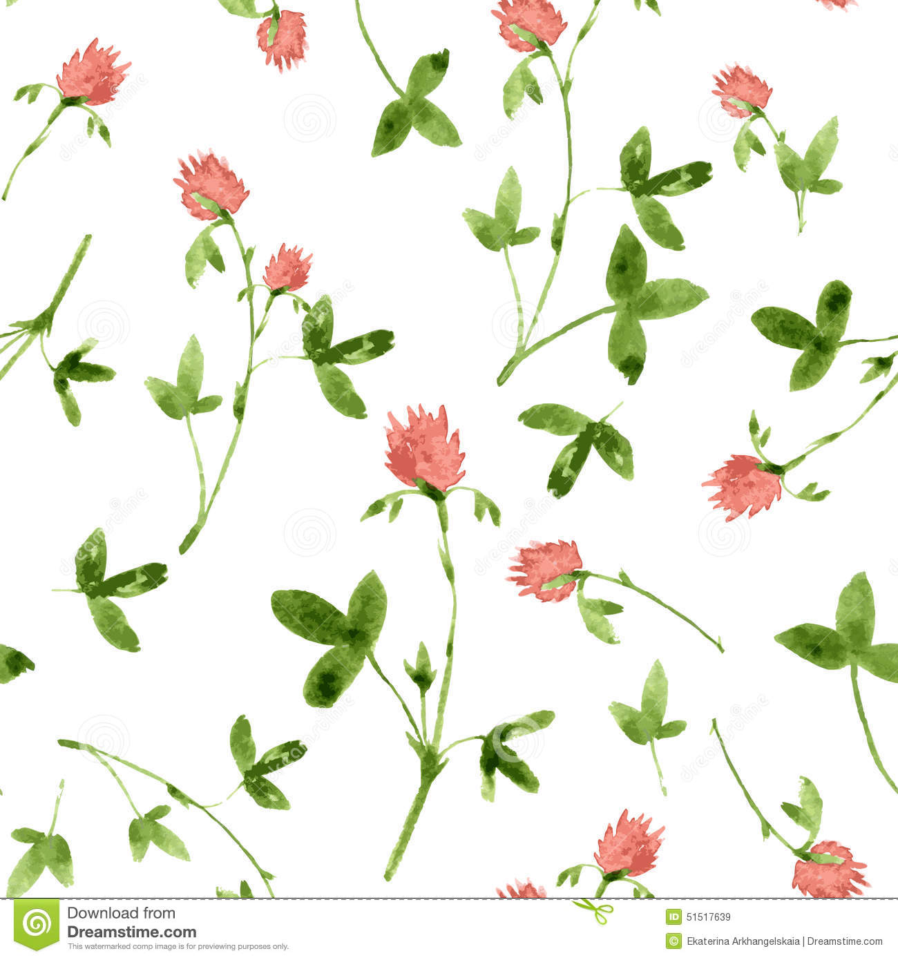 Vector seamless watercolor pattern