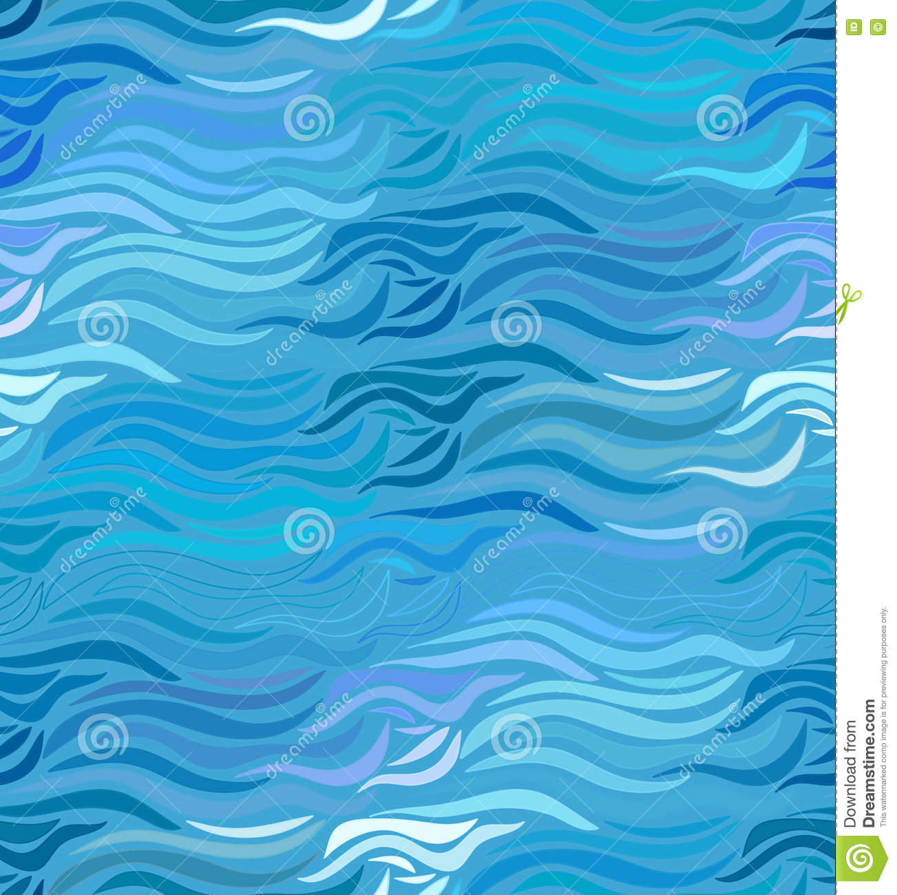 vector seamless wave background of drawn lines stock