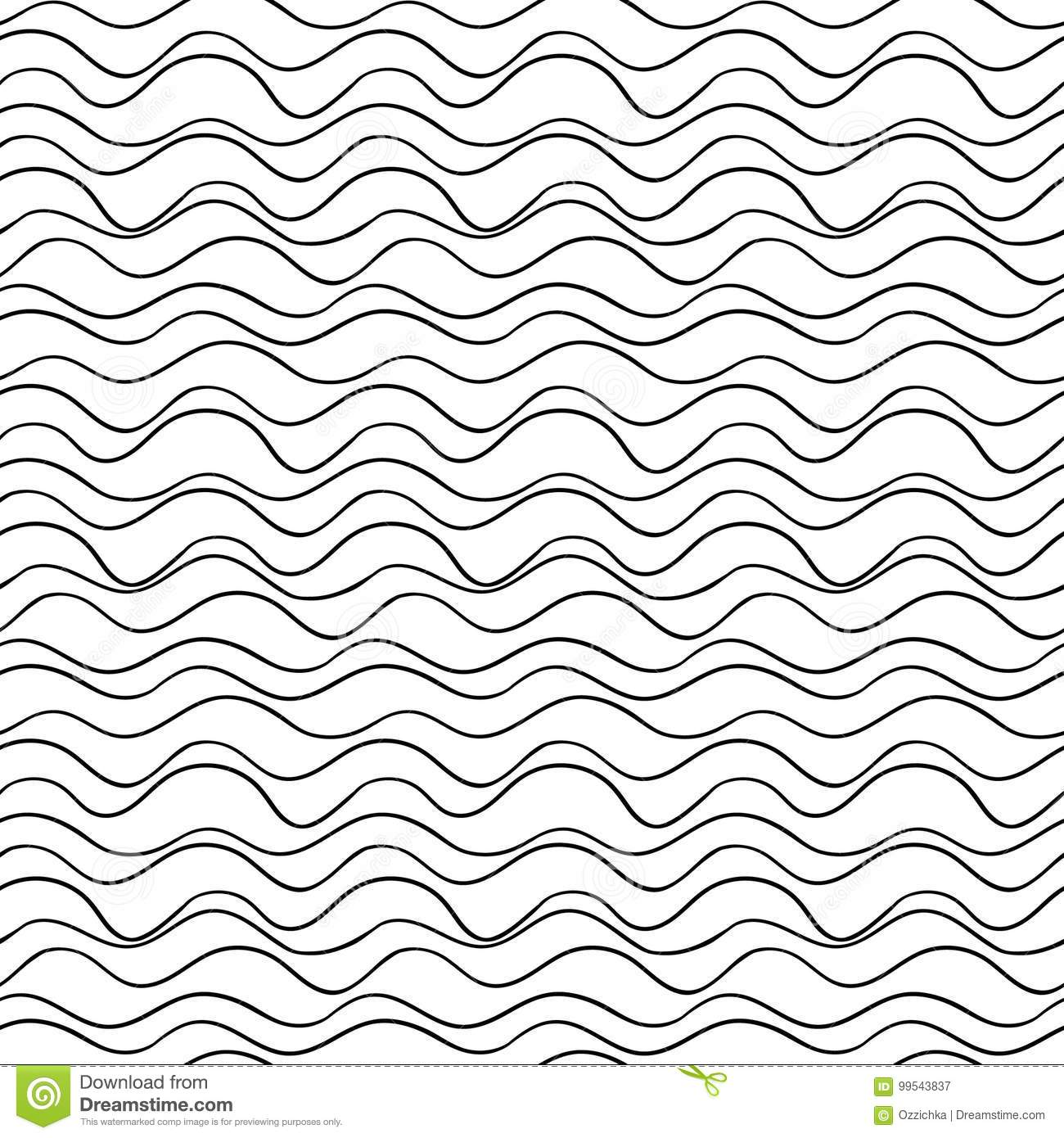 Line Texture Vector : Vector seamless wavy line pattern graphic texture hand