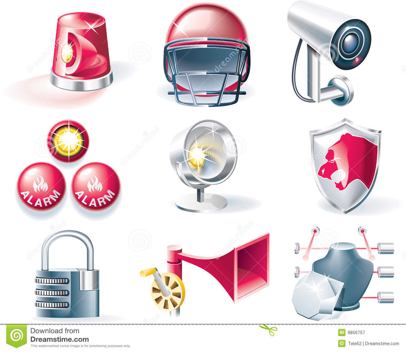 Vector security icon set stock vector. Illustration of ...