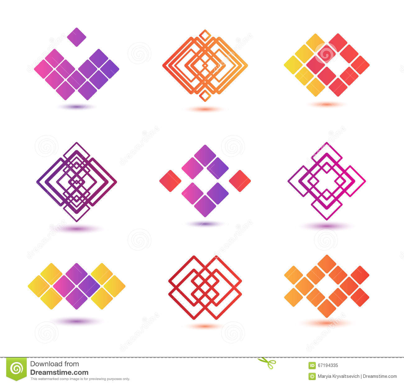 Vector Set Of Abstract Geometric Logos Stock Vector - Image: 67194335