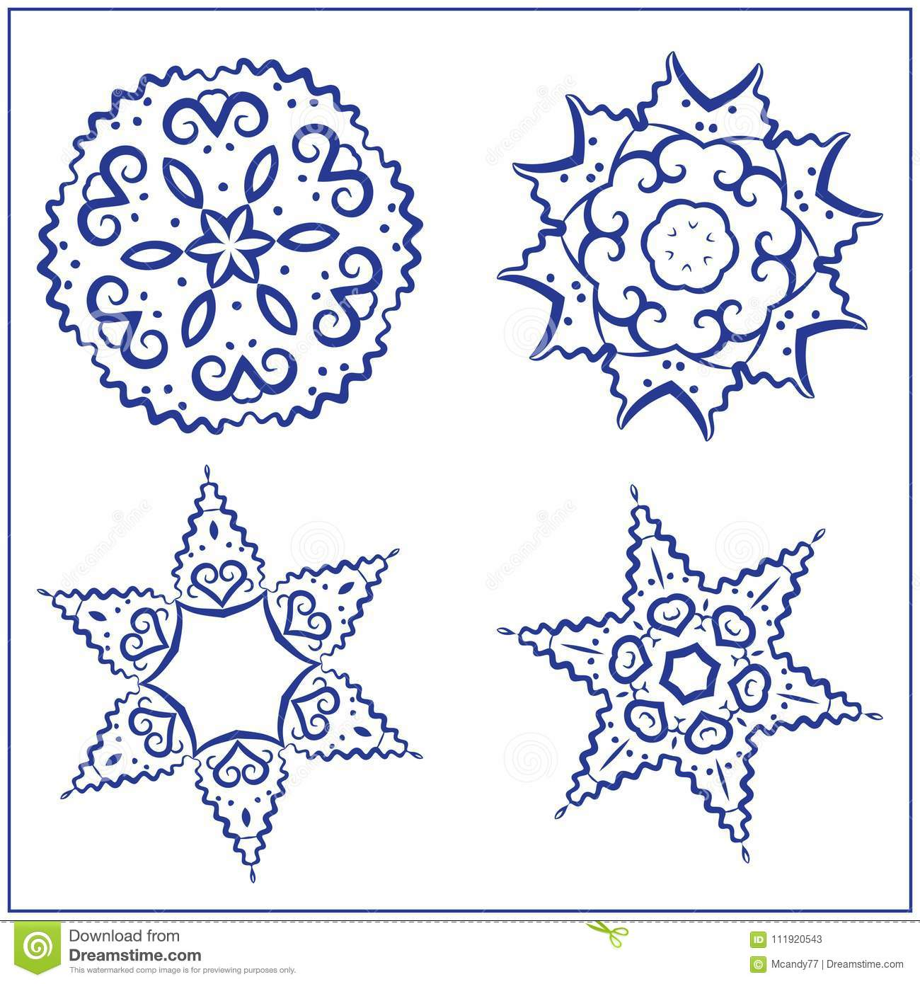 Vector Set Of Abstract Sacred Geometry Symbols  Stock Vector