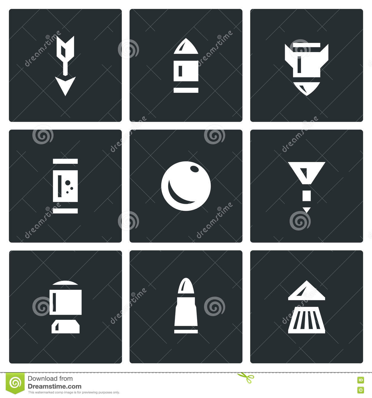 Vector Set of Ammunition Icons.