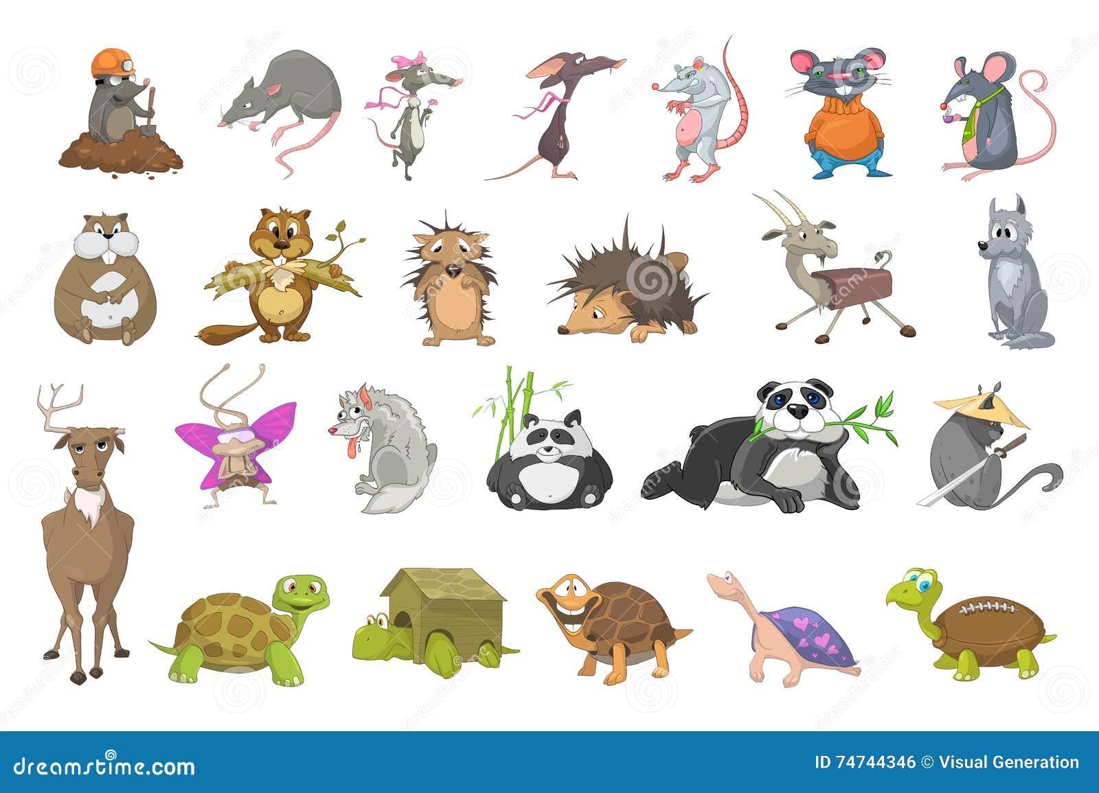 Vector Set Of Animals Illustrations. Stock Vector ...