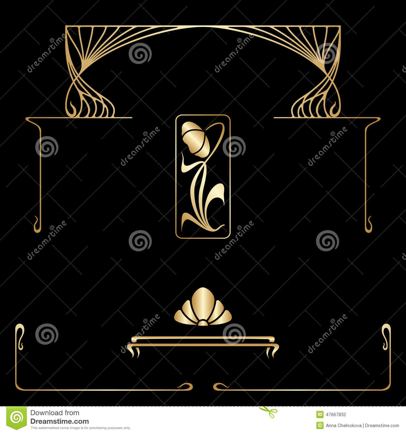 Nouveau decorative elements 28 images vector set of for Design interieur salaire
