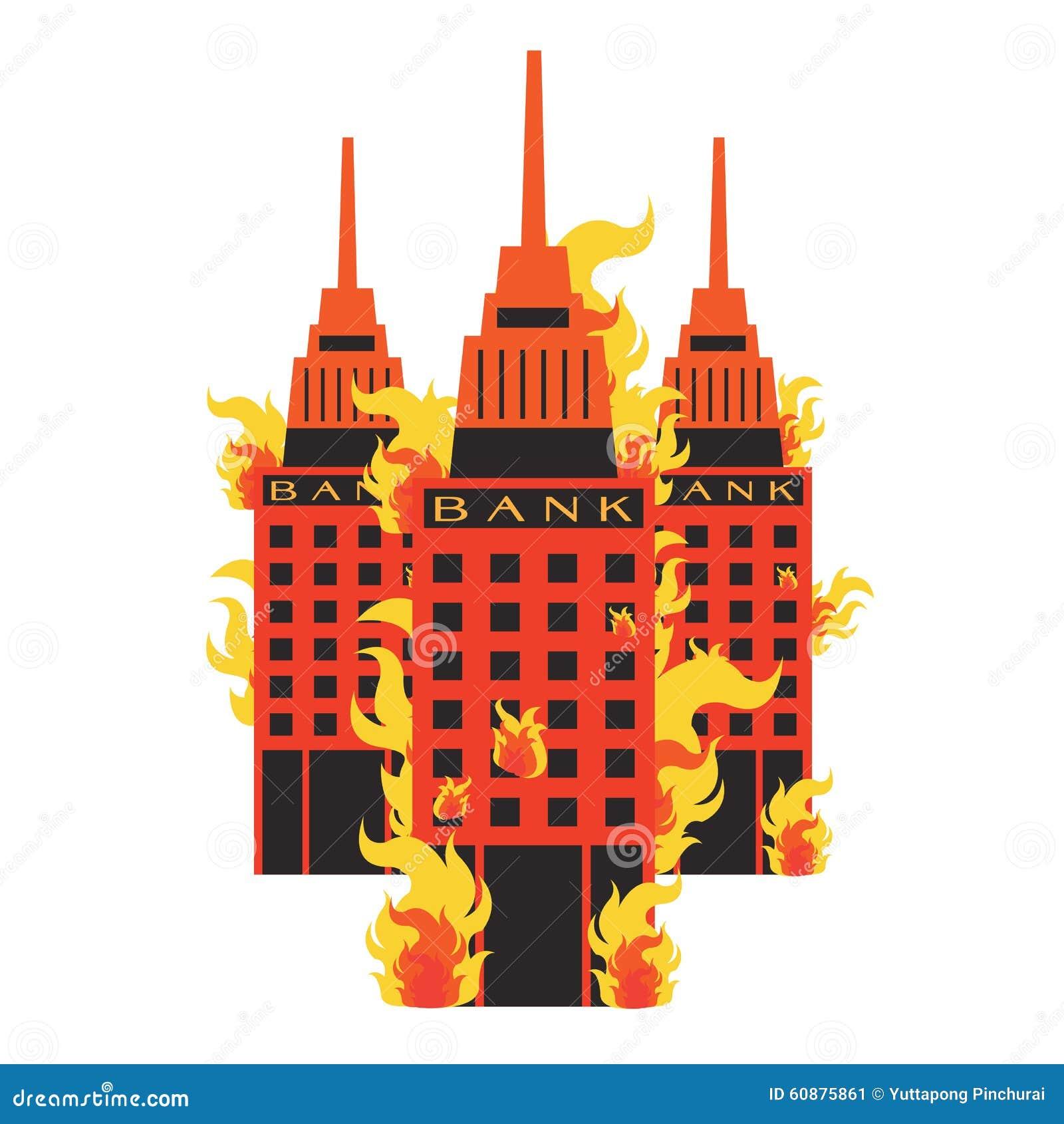 vector set bank fire break corruption leak corrupt on. Black Bedroom Furniture Sets. Home Design Ideas