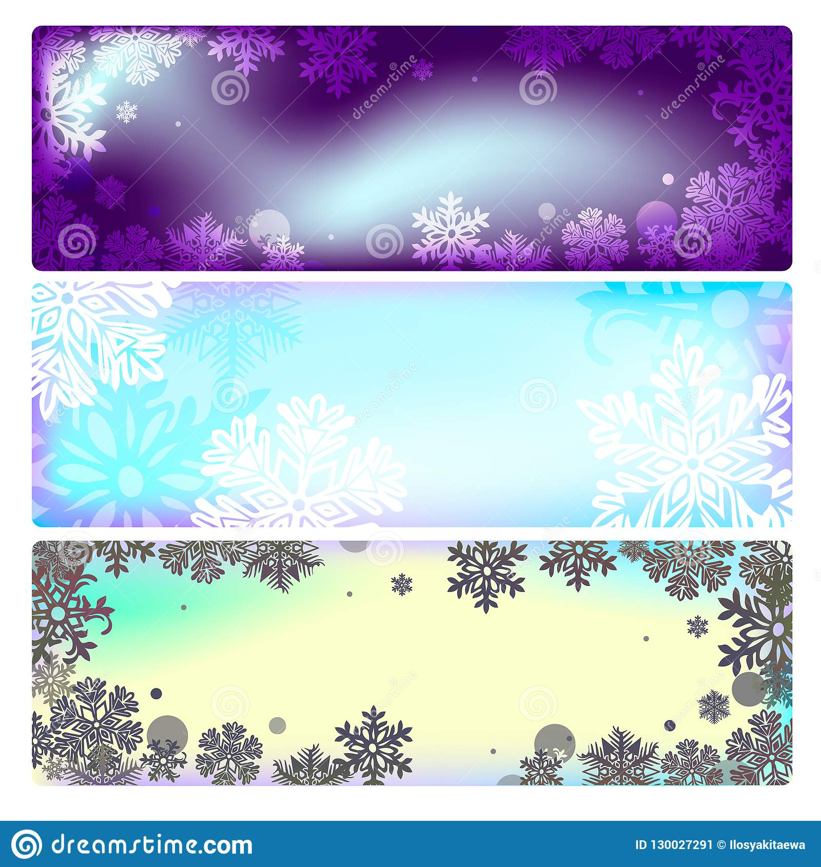 vector set of banners isolated on white background for the design