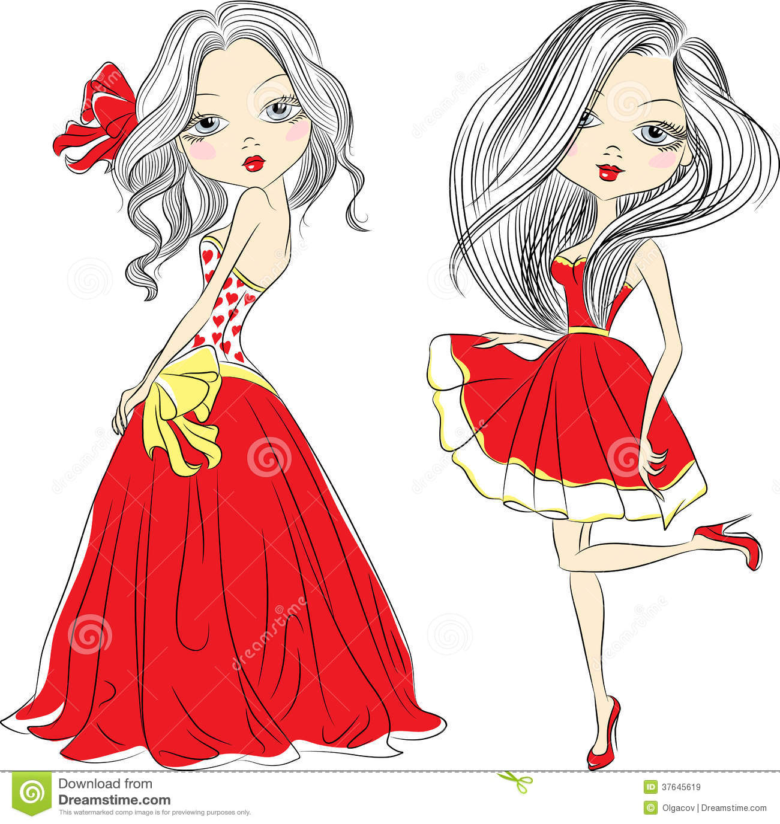 Fashion Model Sihoulette