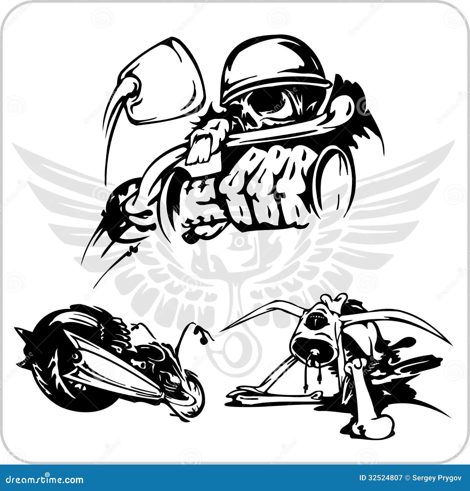 Vector Set Bike Symbol Stock Vector Illustration Of
