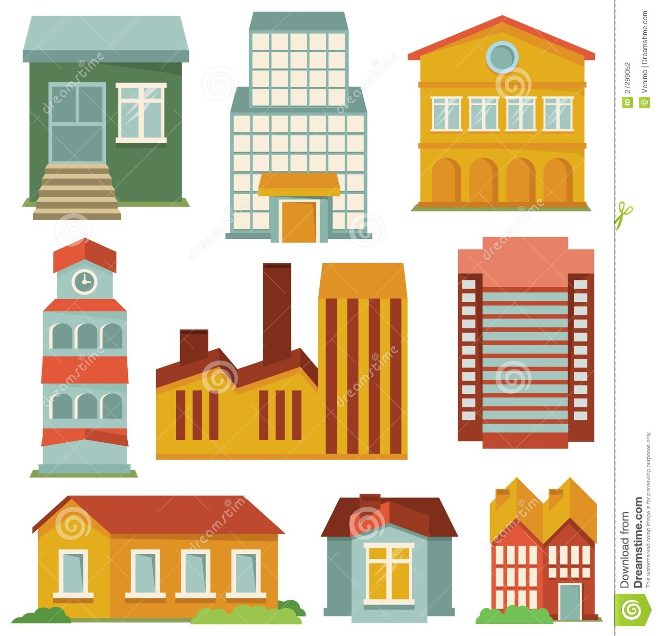 Vector Set With Buildings Icons Stock Photography Image 27299052