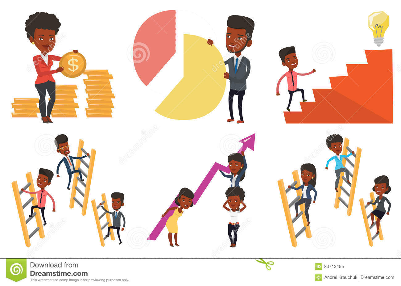 Vector Set Of Business Characters. Stock Vector