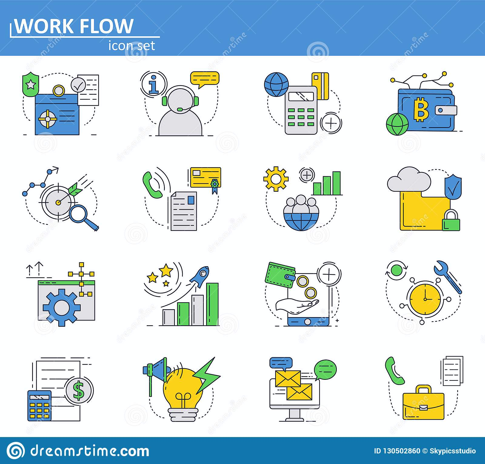 Vector set of business and digital money icons in thin line style. Website UI and mobile web app icon. Outline design