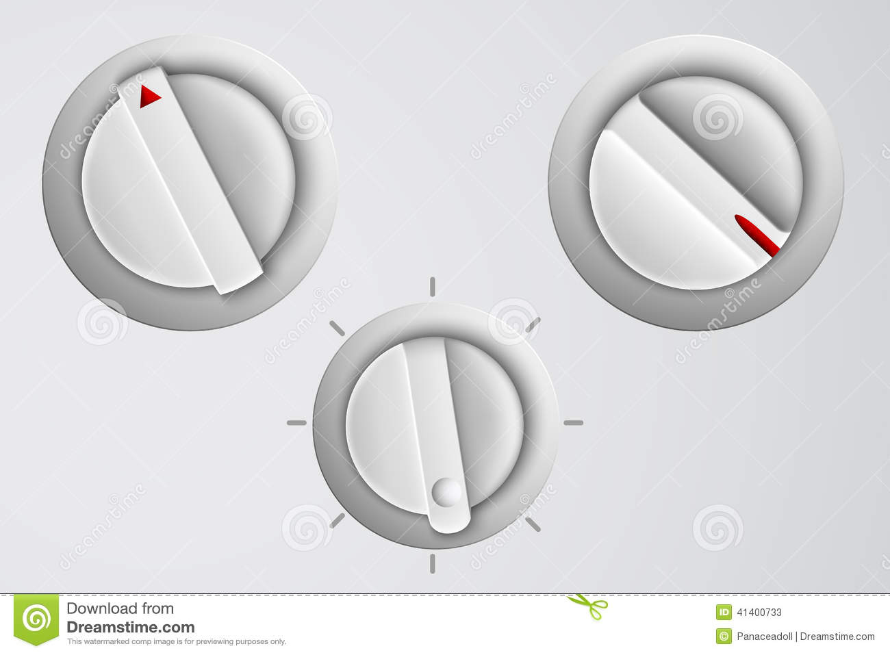 Volume Control Button : Vector set of buttons volume control stock image