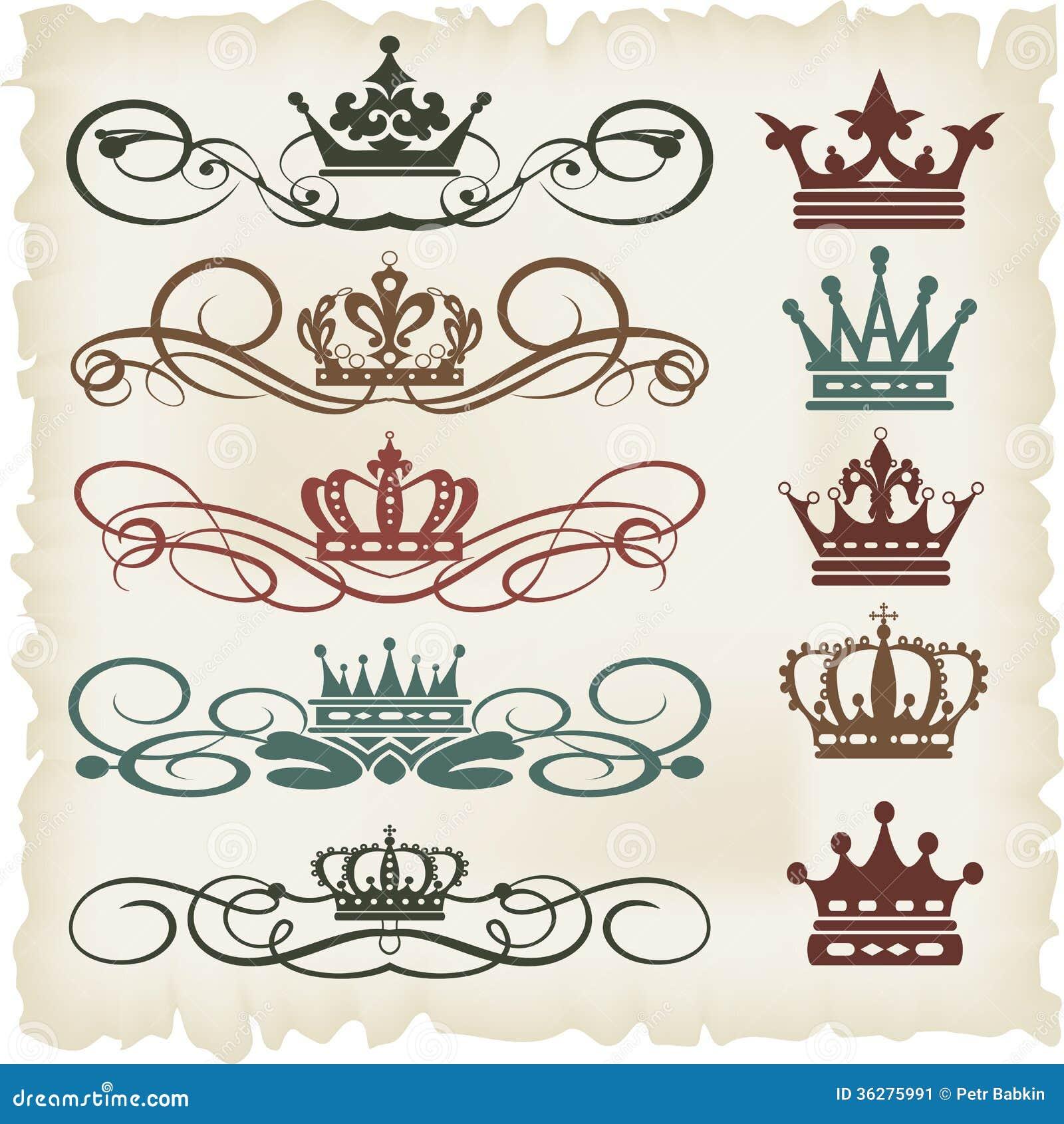 Vector set calligraphic design elements stock image for Decoration elements