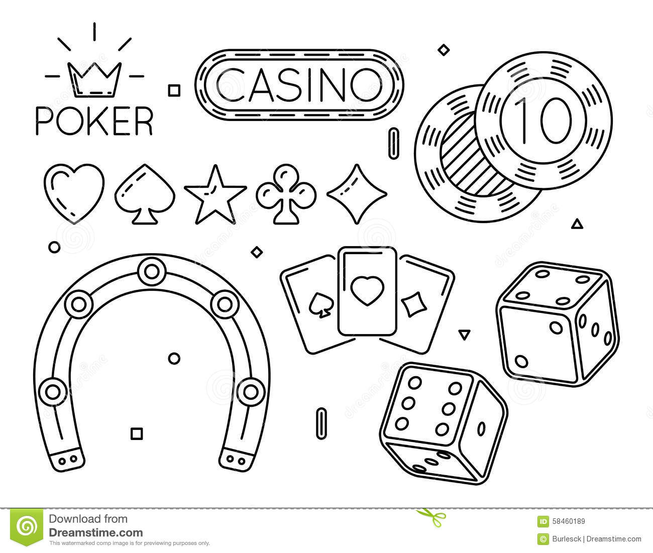 coloring pages of casino - photo#5