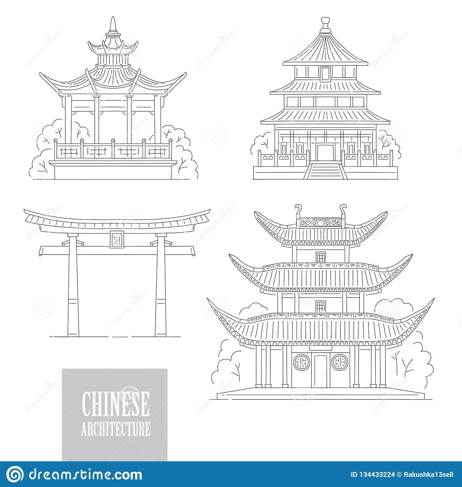 Traditional Chinese Gazebo Garden Pavilion Colorful Illustration.. Royalty  Free Cliparts, Vectors, And Stock Illustration. Image 94498776.