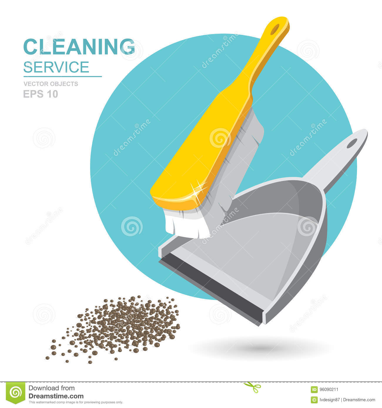Vector E Sanitary Service : Vector set of cleaning service elements cleaner