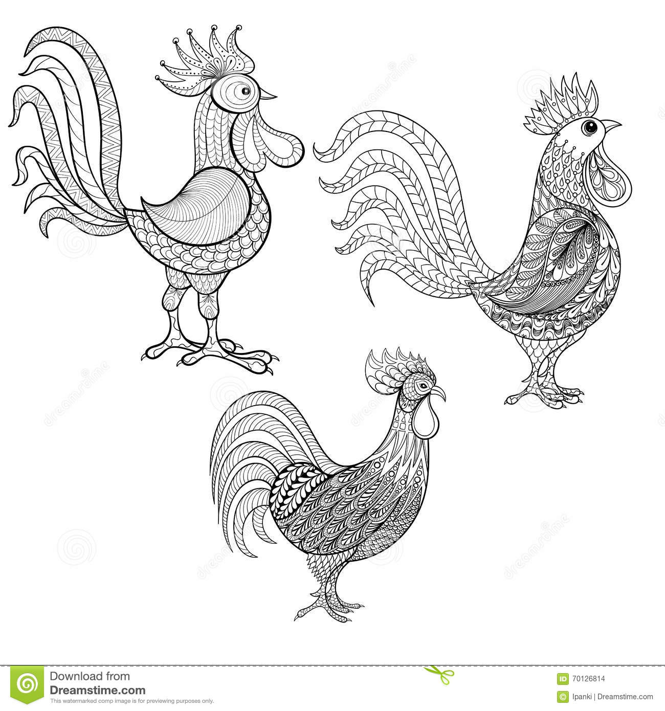 Colouring sheets chinese new year 2017 - More Similar Stock Images Of Set Of Chinese 2017 New Year Roosters