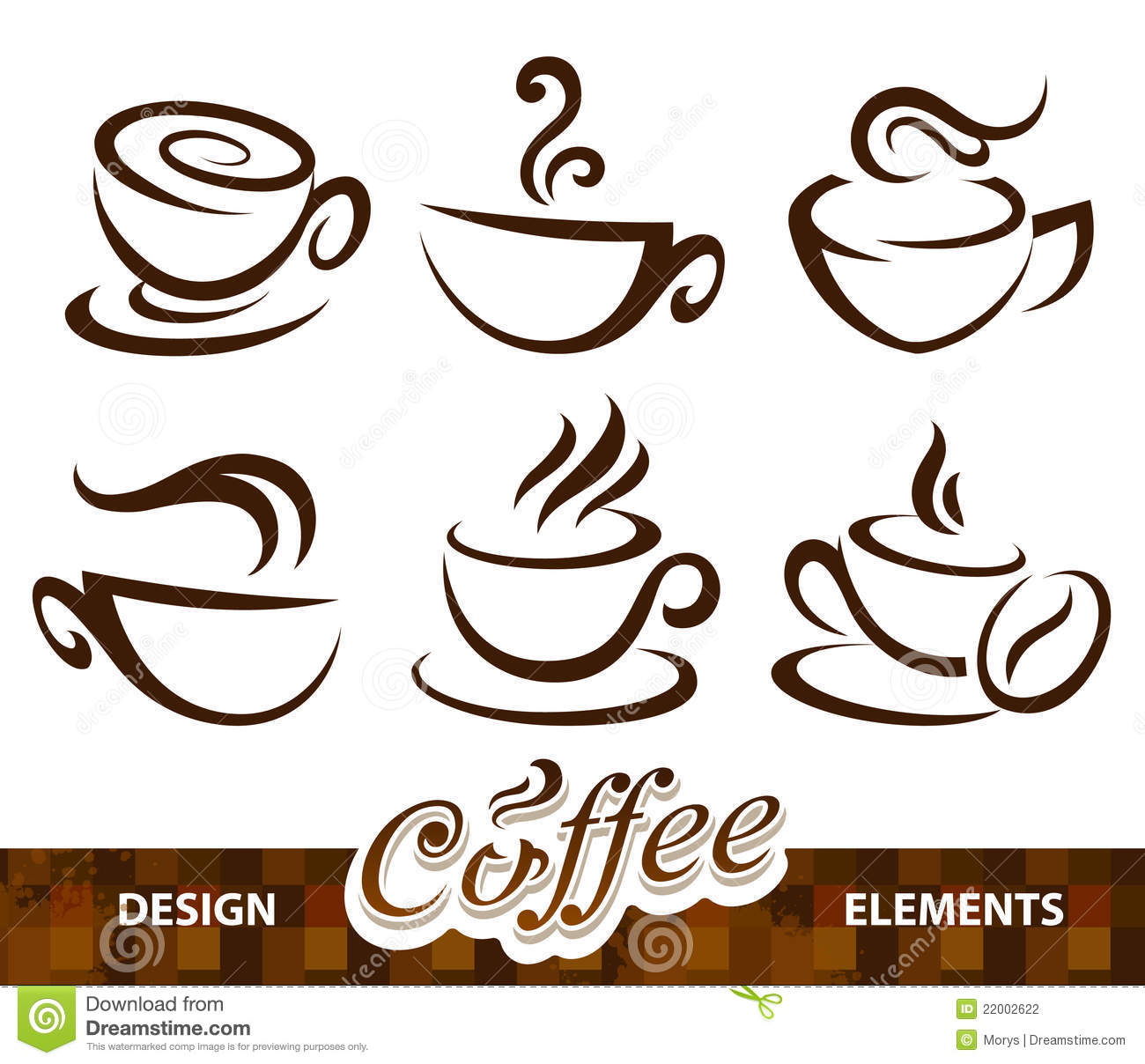 Elements For Design : Vector set of coffee design elements stock image