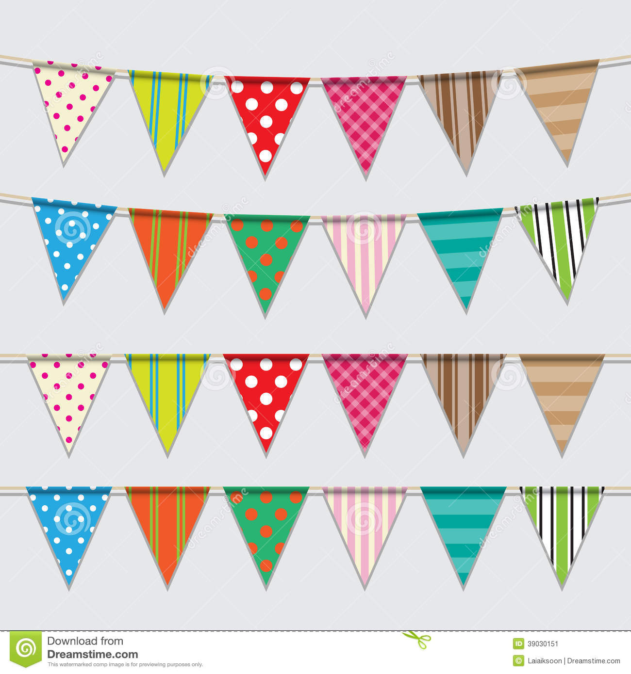 Vector Set Of Colorful And Bright Bunting Stock Vector ...