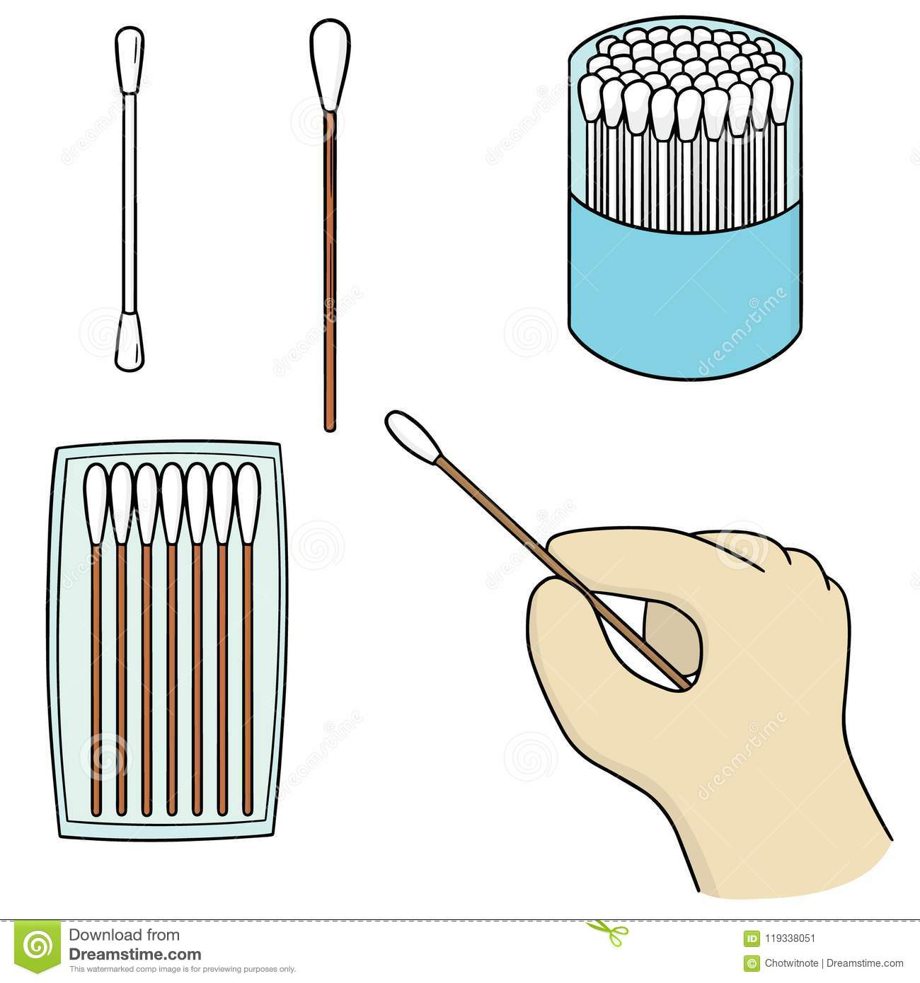 Isolated cotton swab Royalty Free Vector Image