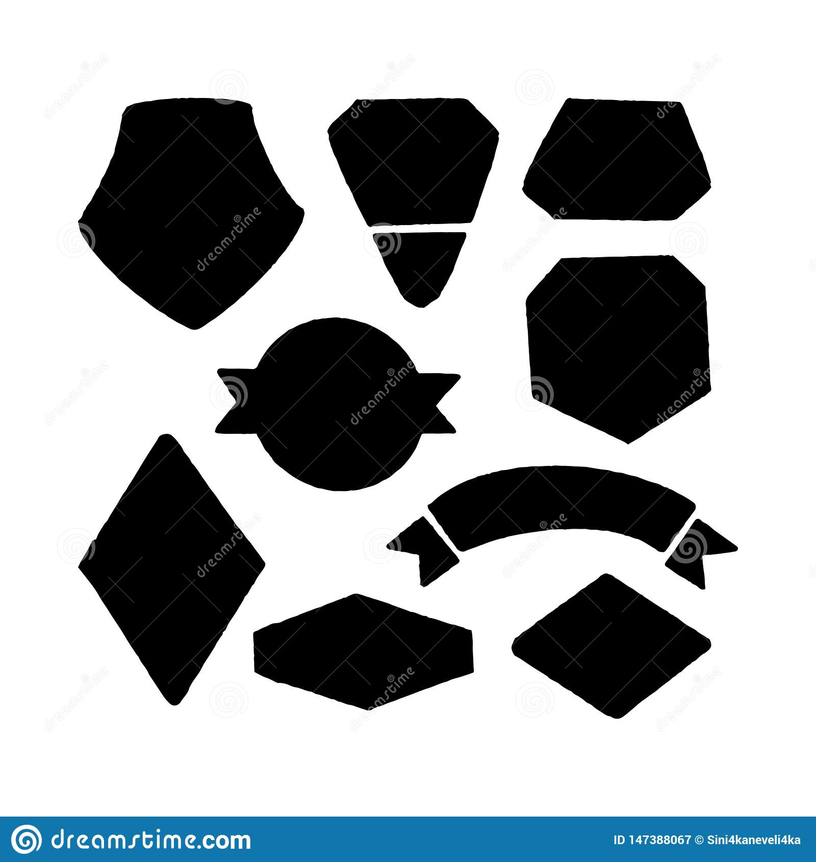 Vector set for the creation of a logo