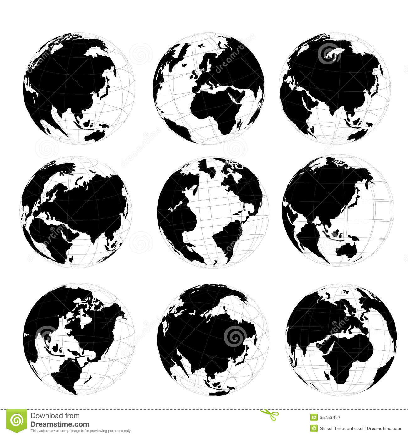 world map ball vector