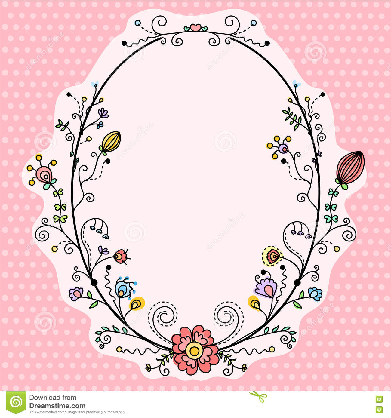 Decorative Black Flower Border Stock Image: Vector Set Of Decorative Elements Stock Vector