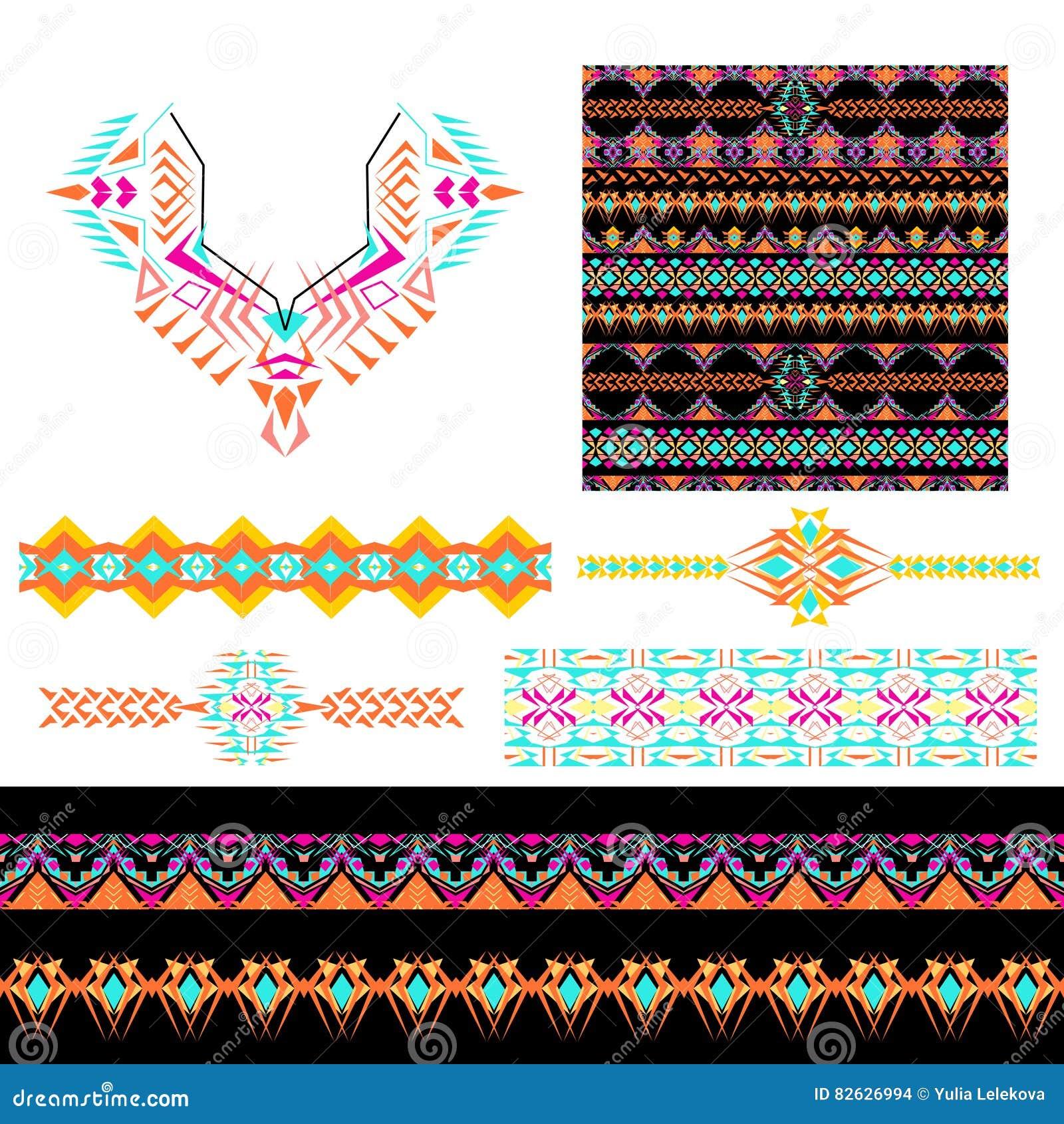 Set Of Ethnic Design Elements Vector Illustration 85498912