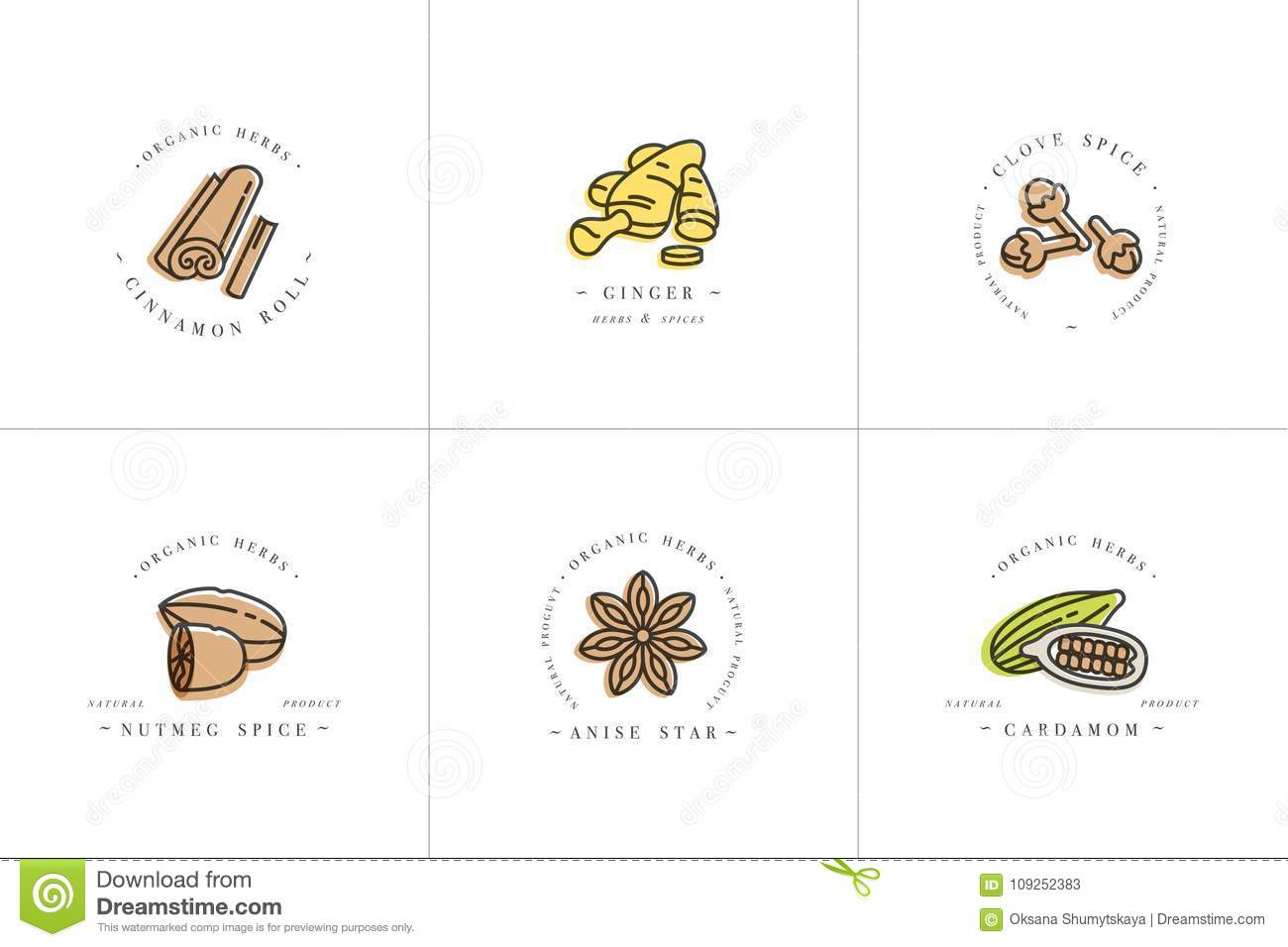 Vector Set Design Colorful Templates Logo And Emblems