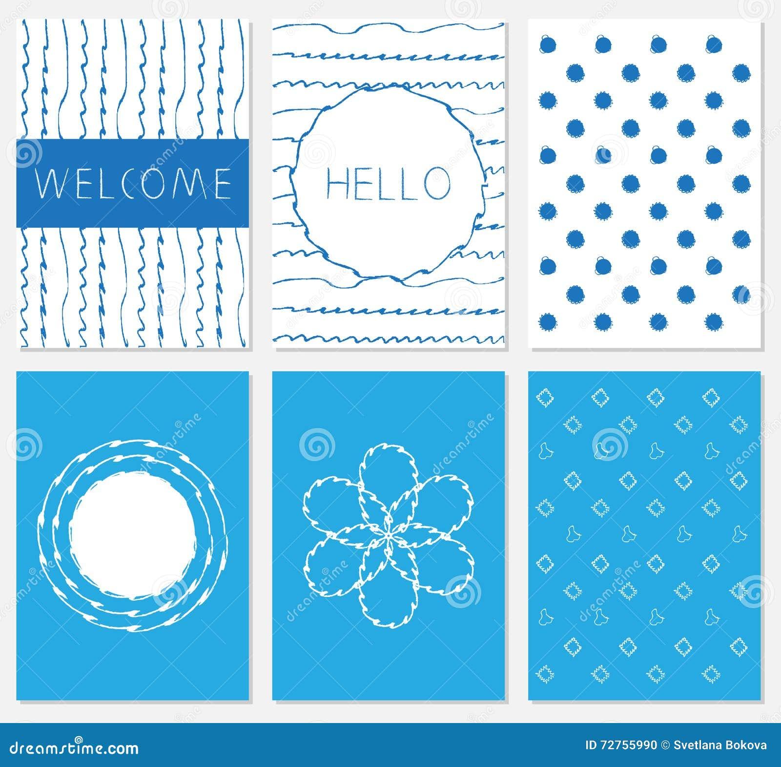 Vector set of design templates