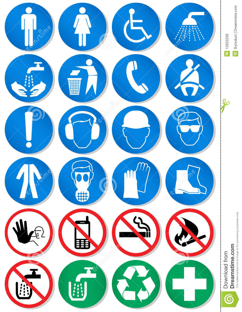 Vector Set Of Different Communication Signs Royalty Free