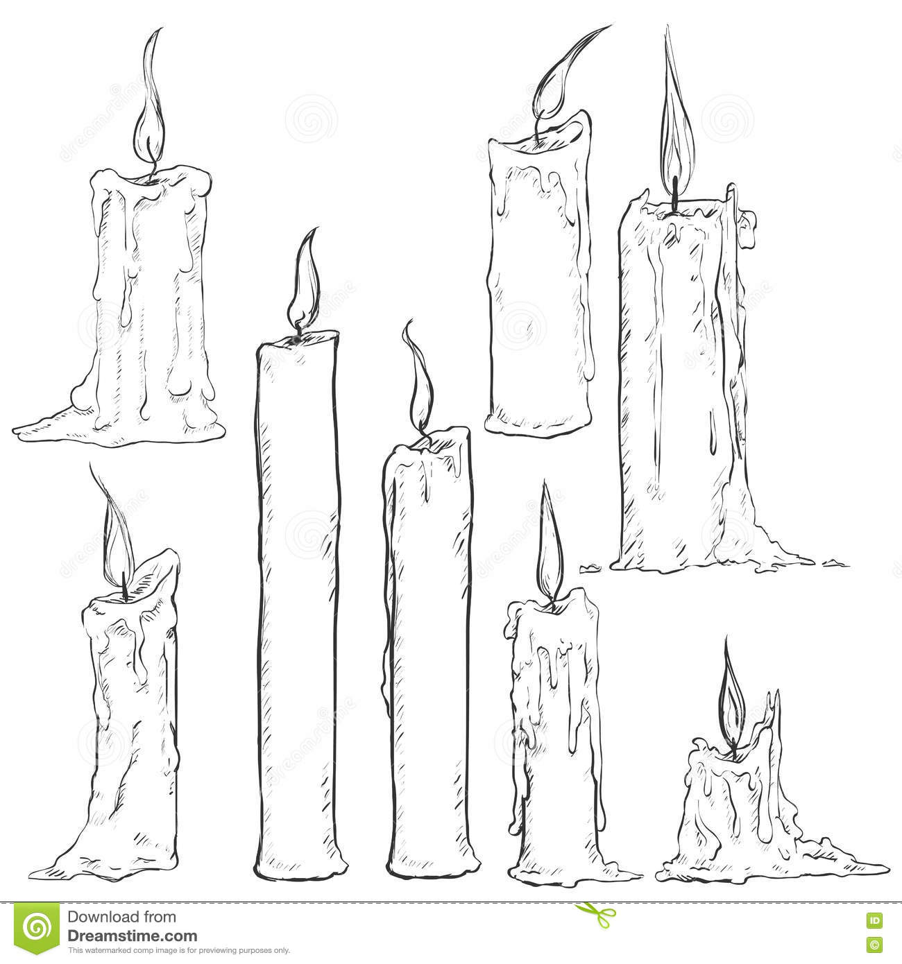 It is a graphic of Bewitching Drawing Of A Candle