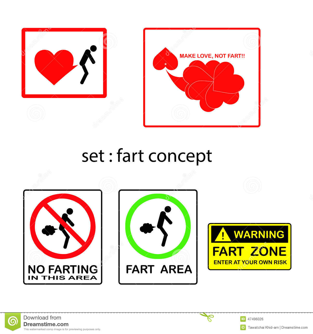 Vector Set Of Concept With Signs And Symbols Stock Vector